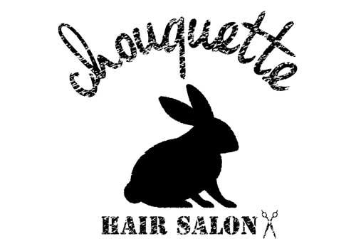美容室シューケットさんのロゴは、うさぎ